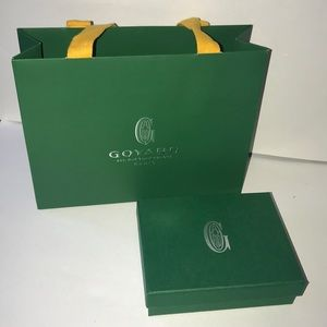 Authentic goyard box and gift shopping bag small